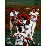"""St. Louis Cardinals 1982 Multi-Signed Signed 16"""" x 20"""" Photo"""