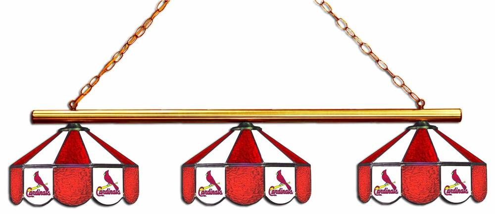 Light Up The Table And Enjoy A Fun Game Of Billiards With The St. Louis  Cardinals 3 Shade Pool Table Light. Included Are Three Team Colored Stained  Glass ...