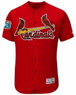 St. Louis Cardinals Authentic Spring Training Patch Scarlet Baseball Jersey
