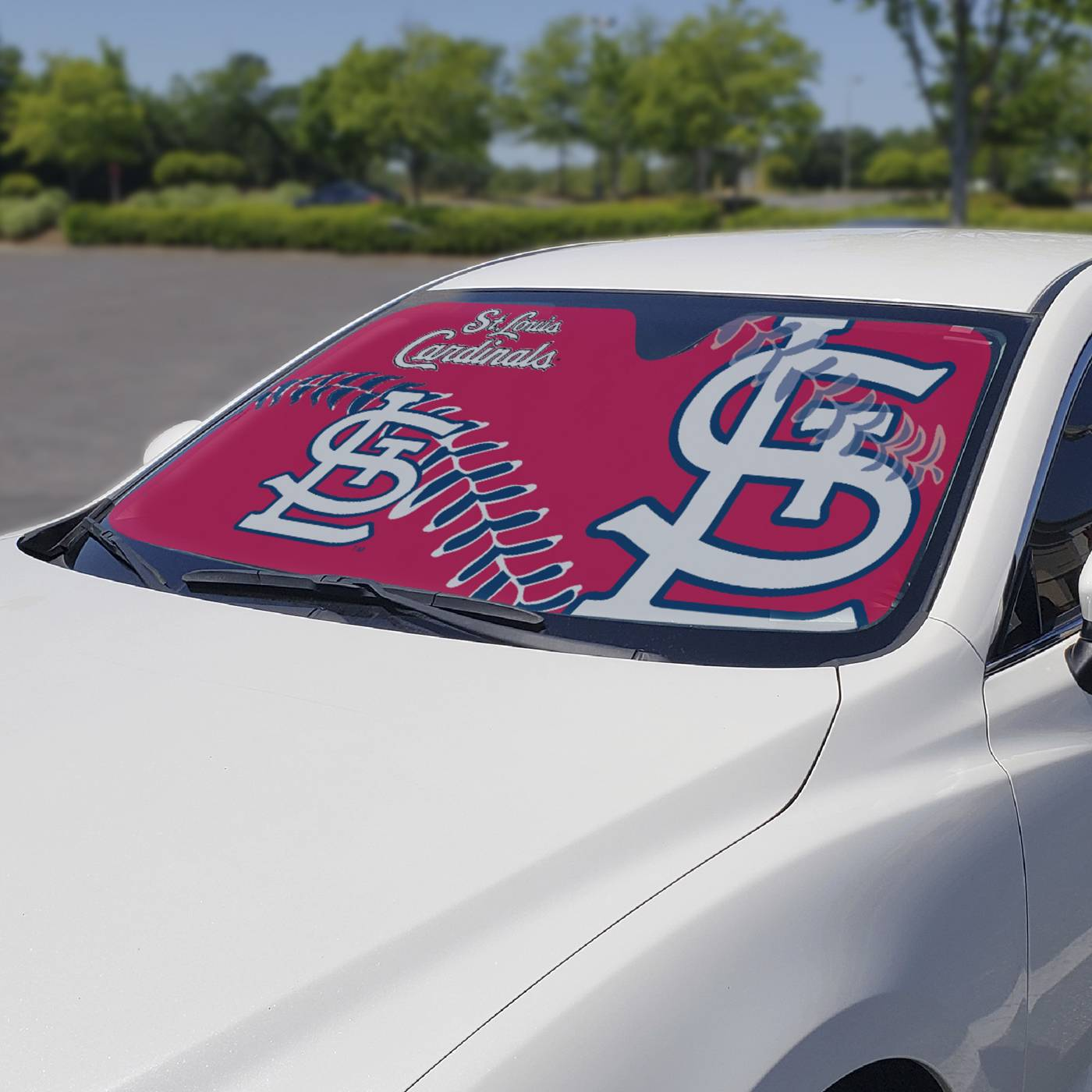st louis cardinals car sun shade