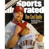 """St. Louis Cardinals Mark McGwire SI Cover W/Son Signed 16"""" x 20"""" Photo"""
