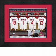 St. Louis Cardinals Personalized Locker Room 13 x 16 Framed Photograph
