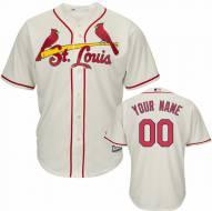 St. Louis Cardinals Personalized Replica Ivory Alternate Baseball Jersey
