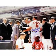 """St. Louis Cardinals Stan Musial Signed With JFK w/ HOF Signed 16"""" x 20"""" Photo"""