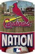 St. Louis Cardinals Wood Sign