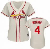 St. Louis Cardinals Yadier Molina Women's Replica Ivory Alternate Baseball Jersey