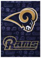 St. Louis Rams Double Sided Glitter Flag