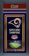 St. Louis Rams Framed Championship Print
