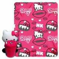 Los Angeles Rams Hello Kitty Blanket & Pillow