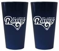 St. Louis Rams Lusterware Pint Glass - Set of 2