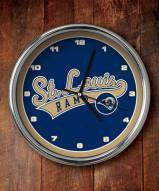 St Louis Rams NFL Chrome Wall Clock
