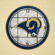 St Louis Rams NFL Stained Glass Wall Clock