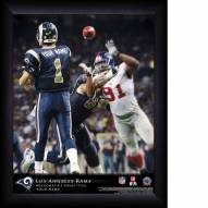 St. Louis Rams Personalized NFL Action QB Framed Print
