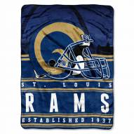 Los Angeles Rams Silk Touch Stacked Blanket