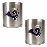 St. Louis Rams Stainless Steel Can Coozie Set