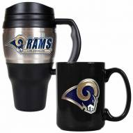St. Louis Rams Travel Mug & Coffee Mug Set