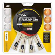 Stiga Performance 4-Player Ping Pong Paddle Set