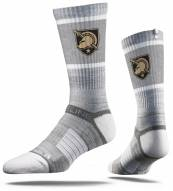 Strideline Army Black Knights Grey Adult Crew Socks