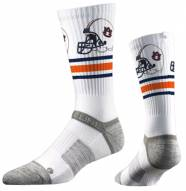 Strideline Auburn Tigers White Adult Crew Socks