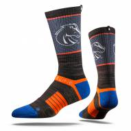 Strideline Boise State Broncos Charcoal Adult Crew Socks