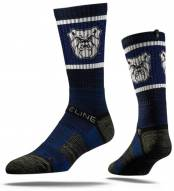 Strideline Butler Bulldogs Navy Adult Crew Socks
