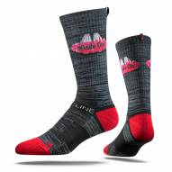 Strideline Chicago Windy City Charcoal Adult Crew Socks