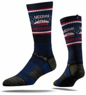 Strideline Connecticut Huskies Stadium Adult Crew Socks