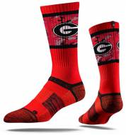 Strideline Georgia Bulldogs Athens Red Adult Crew Socks