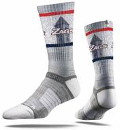 Strideline Gonzaga Bulldogs Gray Adult Crew Socks