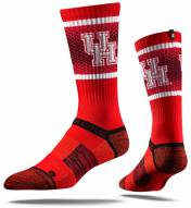 Strideline Houston Cougars Scarlet Adult Crew Socks