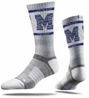 Strideline Memphis Tigers Grey Adult Crew Socks
