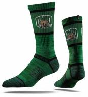 Strideline Ohio Bobcats Green Adult Crew Socks