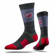 Strideline South Carolina Gamecocks Black Adult Crew Socks