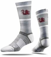 Strideline South Carolina Gamecocks Grey Adult Crew Socks
