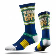 Strideline Utah Jazz Swat Lake City Adult Crew Socks