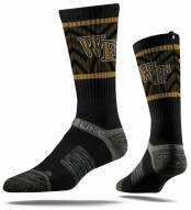 Strideline Wake Forest Demon Deacons Black Adult Crew Socks