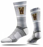 Strideline Wyoming Cowboys Gray Adult Crew Socks
