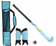 STRYK Burst Beginner Field Hockey Stick Package - Blue