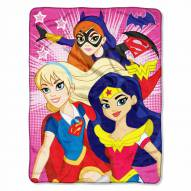 Super Hero Girls Micro Raschel Throw Blanket