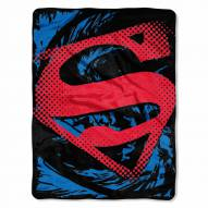 Superman Rip Shield Micro Raschel Throw Blanket