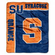 Syracuse Orange Jersey Mesh Raschel Throw Blanket