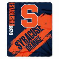 Syracuse Orange Painted Fleece Blanket