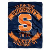 Syracuse Orange Rebel Raschel Throw Blanket