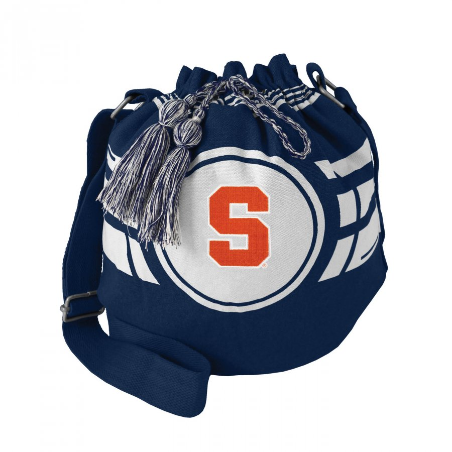 Syracuse Orange Ripple Drawstring Bucket Bag