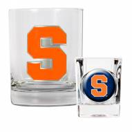 Syracuse Orange Rocks Glass & Shot Glass Set