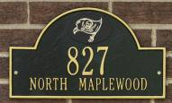 Tampa Bay Buccaneers NFL Personalized Address Plaque - Black Gold