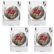 Tampa Bay Buccaneers Open Field 4-Piece RealTree Square Shot Glass Set