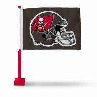 Tampa Bay Buccaneers Car Flag with Red Pole