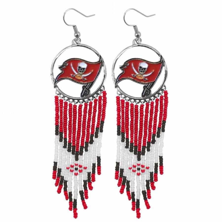 Tampa Bay Buccaneers Dreamcatcher Earrings