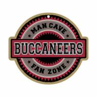 Tampa Bay Buccaneers Man Cave Fan Zone Wood Sign